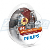 Галогенные лампы H4 12V 60/55W Philips X-treme Vision G-force + 130%