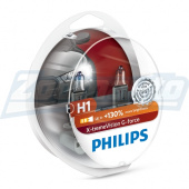 Галогенные лампы H1 12V 55W Philips X-treme Vision G-force + 130%