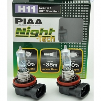Купить галогенные лампы H11 12V 55W PIAA NIGHT TECH +90% в Нижнем Новгороде