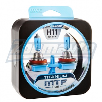 Купить галогенные лампы H11 12V 55W MTF Light TITANUM в Нижнем Новгороде