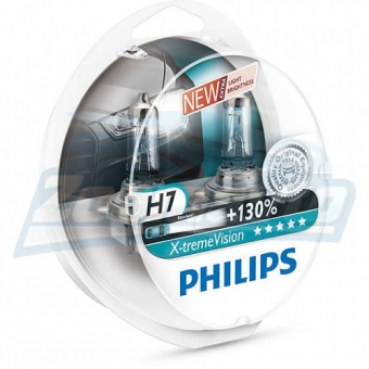 Купить галогенные лампы H7 12V 55W Philips X-tremeVision +130% в Нижнем Новгороде
